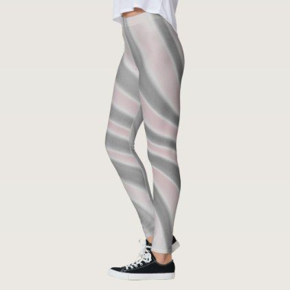 f0c9c821bc2b2 Gray Pink Airbrush Stripes - Leggings - chic design idea diy elegant  beautiful stylish modern exclusive trendy