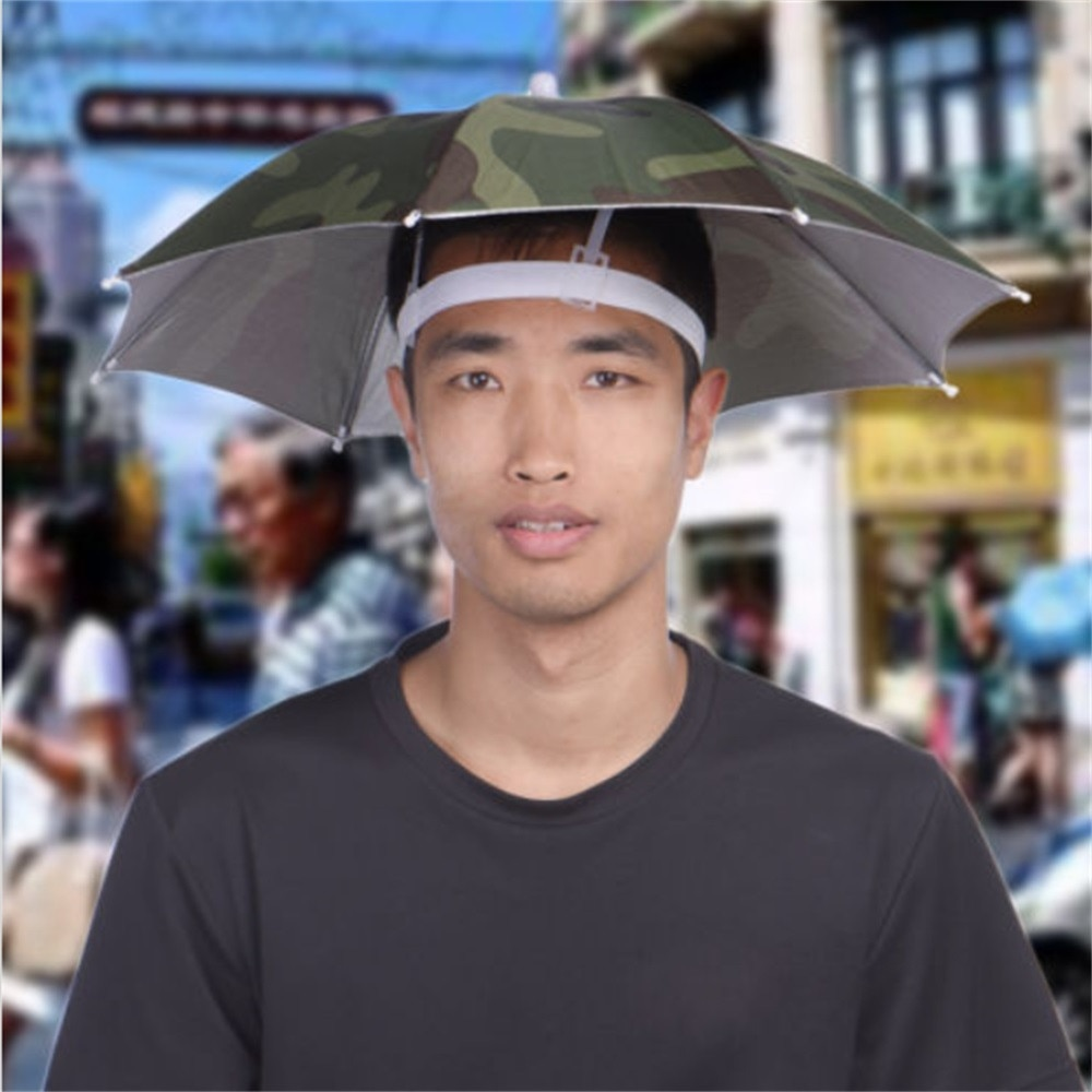 Kangoex Umbrella Hat Protects You From Heat And Rain While Keeping Your Hands Free Get It With A Huge Discount And Free Shippin Umbrella Headwear Sun Umbrella