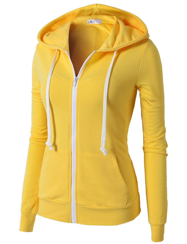 H2H Womens Active Slim Fit Zip Up Long Sleeve Hoodie