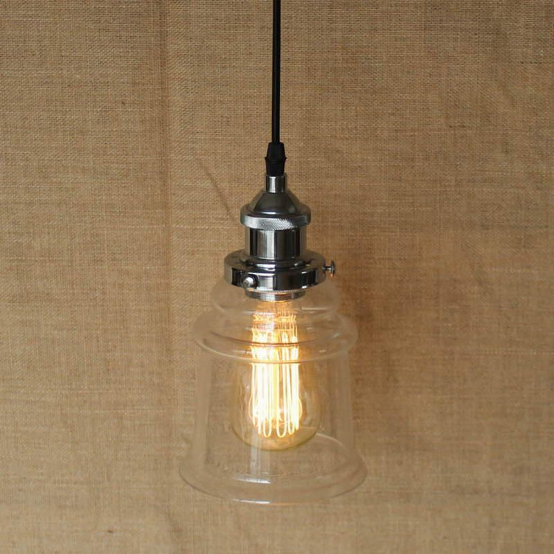 Find More Pendant Lights Information About Loft Industrial Hanging Clear Glass Shade Mini Pendant Light With