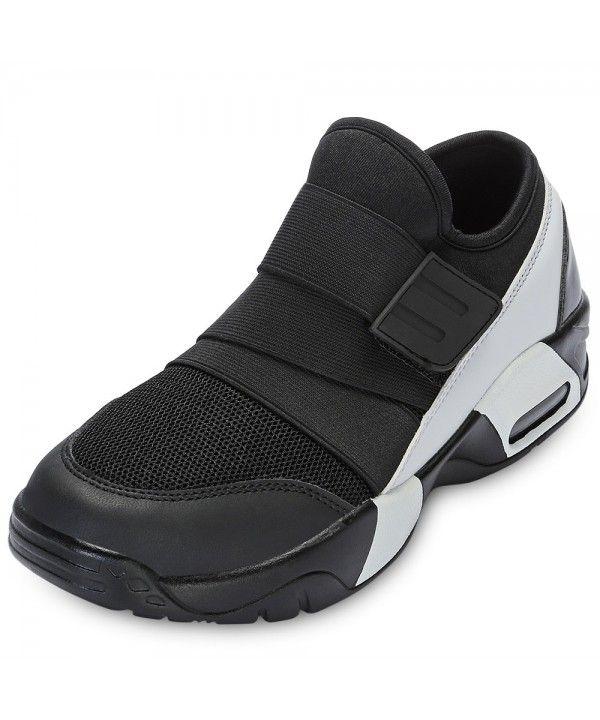 Casual Round Toe Mesh Spliced Hook and Loop Men Sneakers