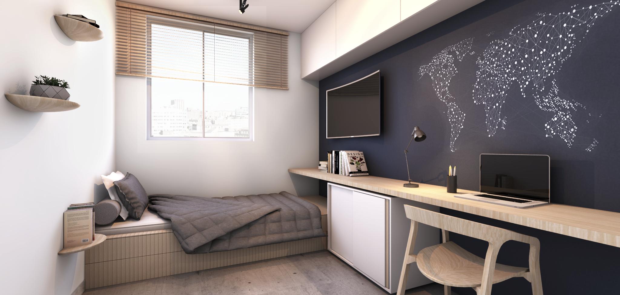 Apartamento AIMBERÊ HUS Arquitetos interior bedroom
