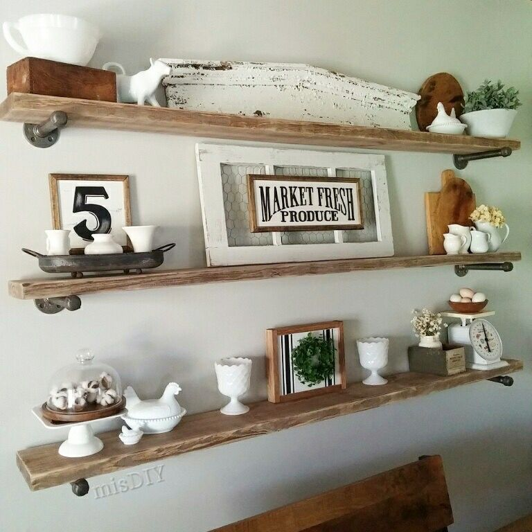 Pin by Nicole Bushnell on Dream Home | Living room shelves ...