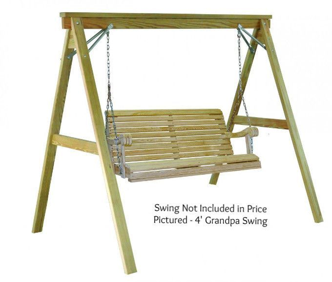 Hershyway A-Frame Swing Stand for 4 Foot Grandpa Swing | Outside ...