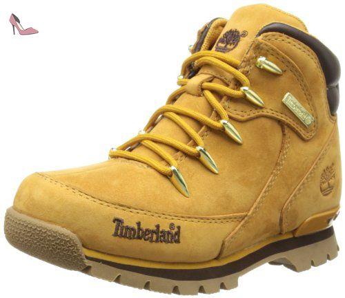 Timberland Euro Rock Hiker, Bottes courtes garçon, jaune