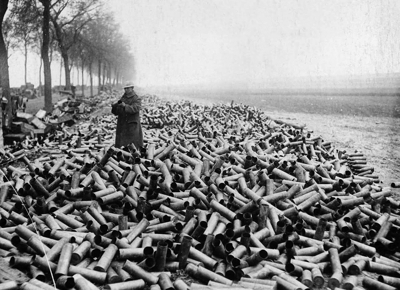 Image result for piles of shell cases in ww1