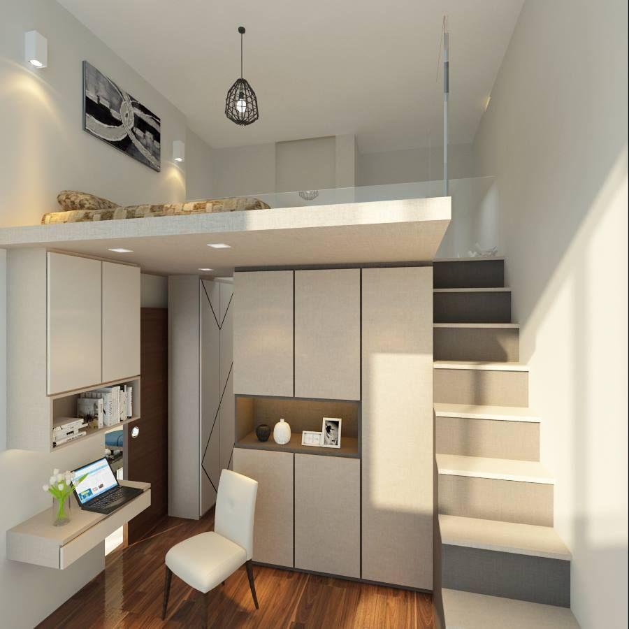loft bed singapore interior design  Google Search  New