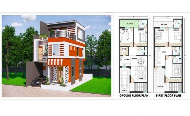 33 X36 2bhk Awesome South facing House Plan As Per Vastu Shastra Autocad DWG and Pdf file details