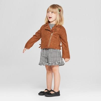 8da9fc34a Toddler Girls  Moto Jacket - Genuine Kids from OshKosh Brown 5T ...