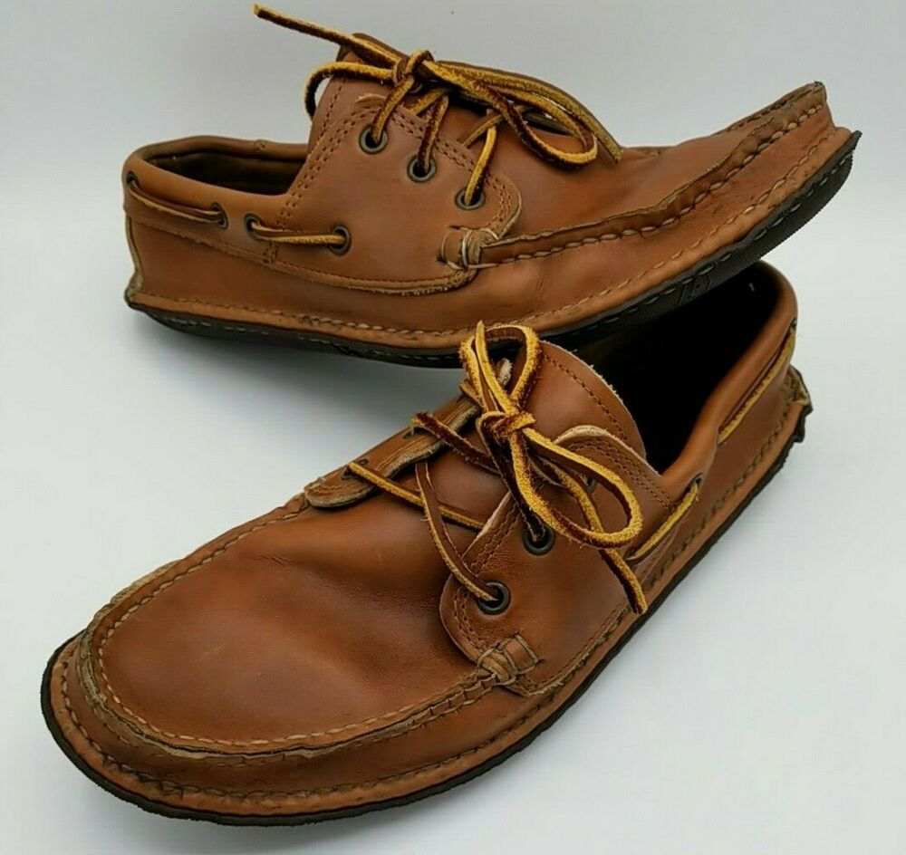 Quoddy Men's Size 11 Boat Moc Brown