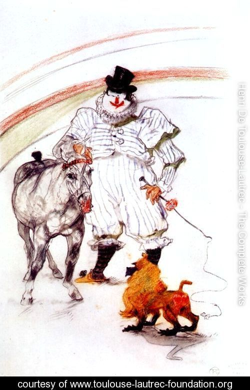 at the circus, horse and monkey dressage - Henri De Toulouse-Lautrec - www.toulouse-lautrec-foundation.org