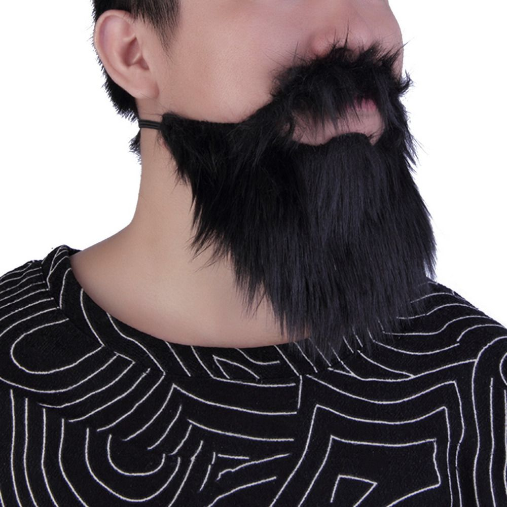 Funny Prom Props Party Costume Facial Hair Moustache Wig Fake Beard Fancy Dress