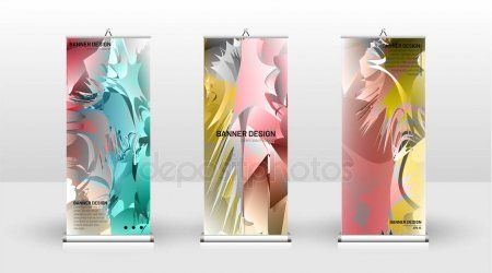 Vertical banner template design can be used for brochures covers publications