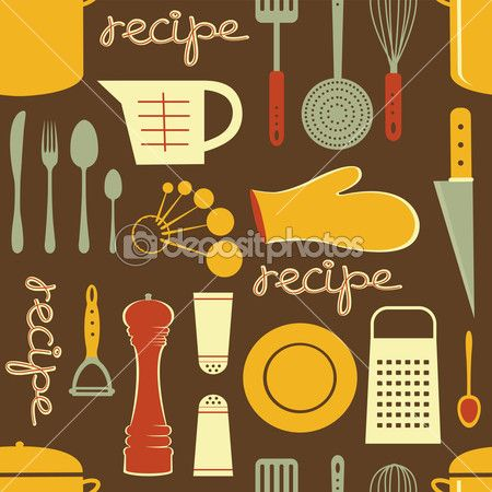 patrón de receta de cocina