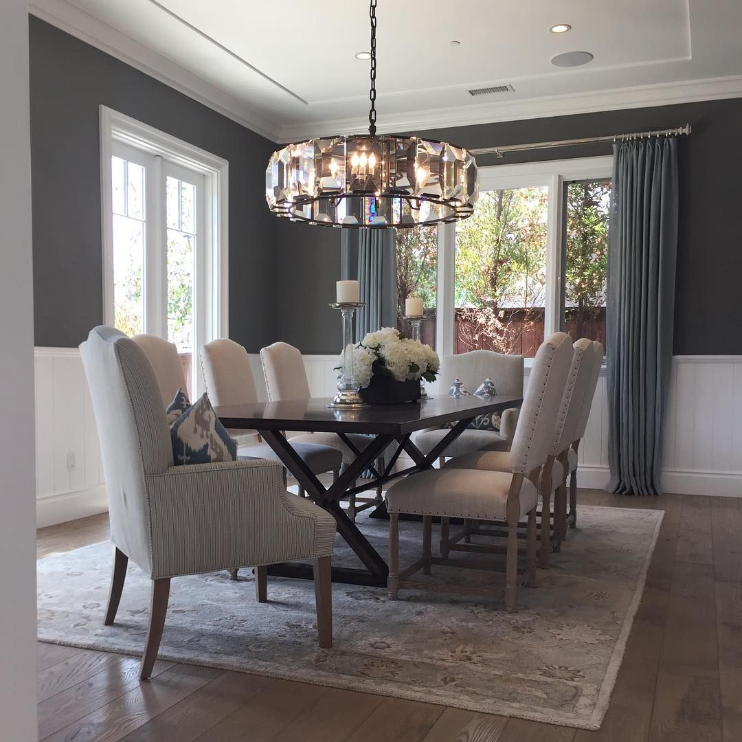 Benjamin Moore Chelsea Gray Paint Color Schemes Dining Room