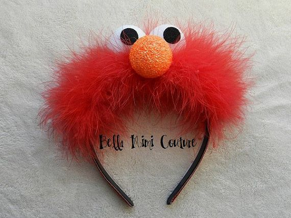 Sesame Street Elmo Headband by BellaMimiCouture on Etsy, $14.50