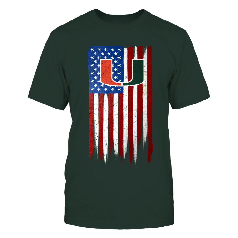Grunge American Flag Miami Hurricanes Front Picture Miami Hurricanes University Of Miami Hurricanes Miami Outfits