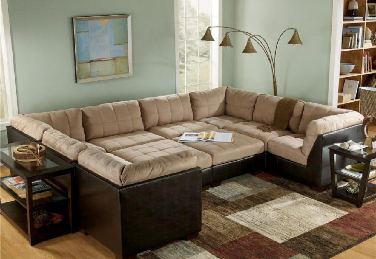 Nice Large Sectional Sofa With Ottoman Amazing 63 Additional