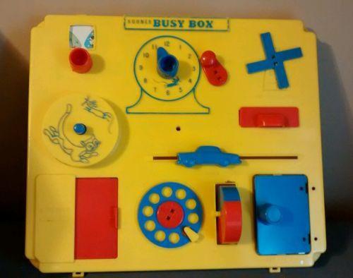 Vintage 1960 S Kohner Busy Box Baby Crib Playpen Toy In Original Box