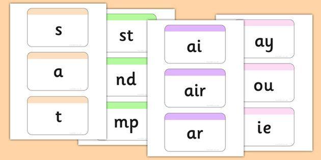 NEW * Phase 2-5 Phoneme Flashcards Pack   English   Phonics ...