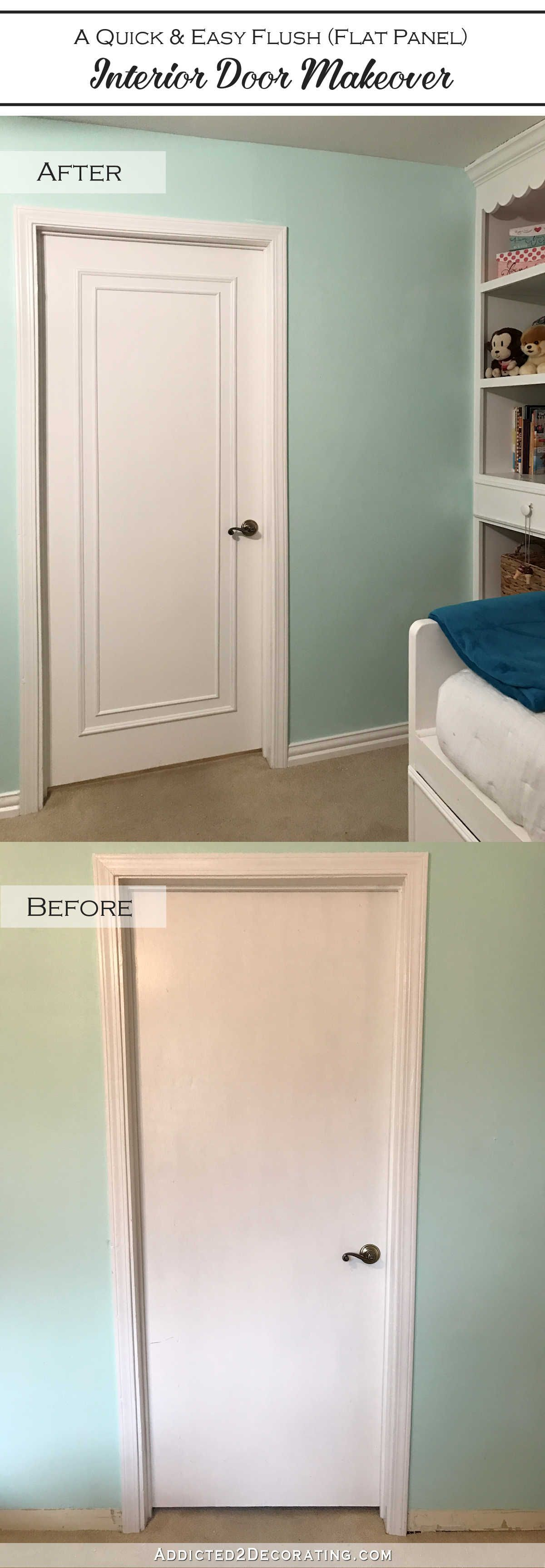 An Easy \u0026 Inexpensive Way To Update Flush (Flat Panel) Interior Doors With Moulding : door moldings - Pezcame.Com