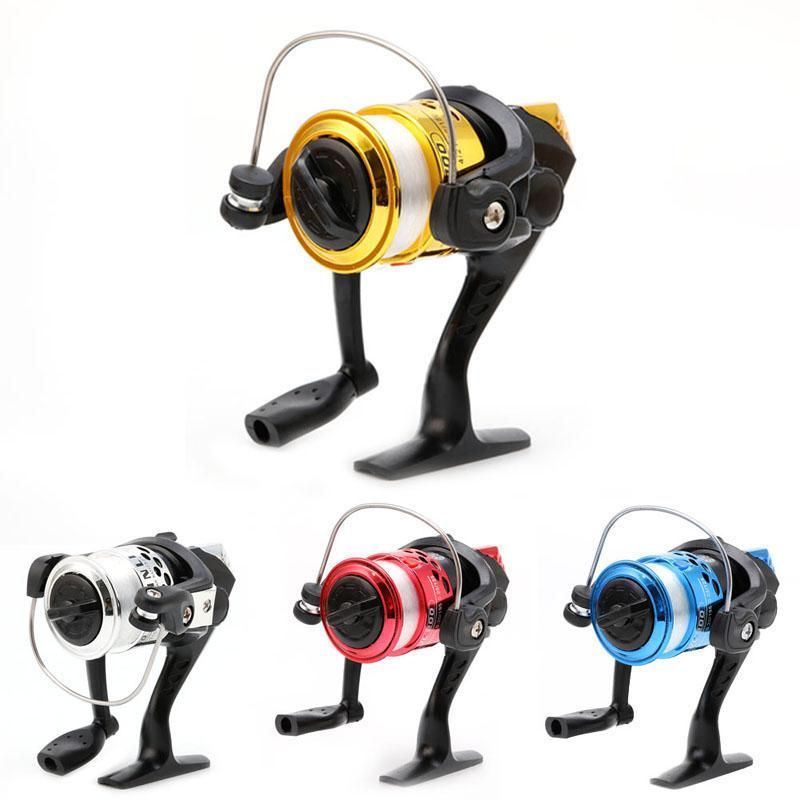 High Speed G-Ratio 5.2:1 Bait Rocker Folding Spinning Fishing Reels With Line