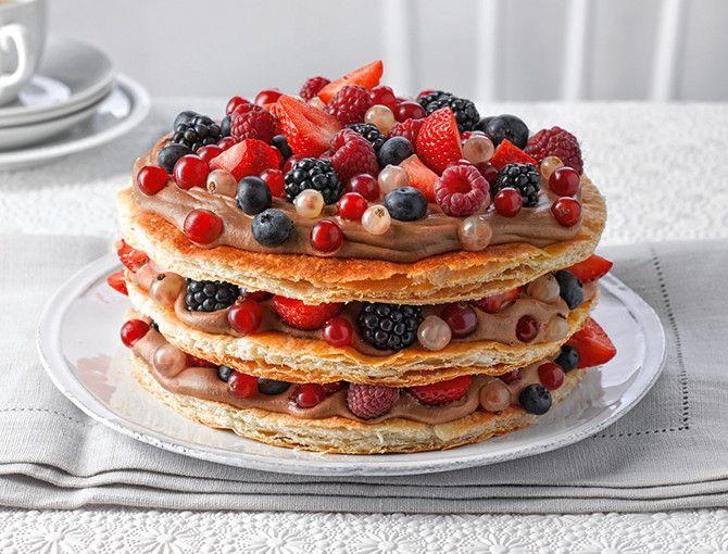 Lindt & Sprngli | Millefeuille-Torte | Rezepte VI: Kuchen ...