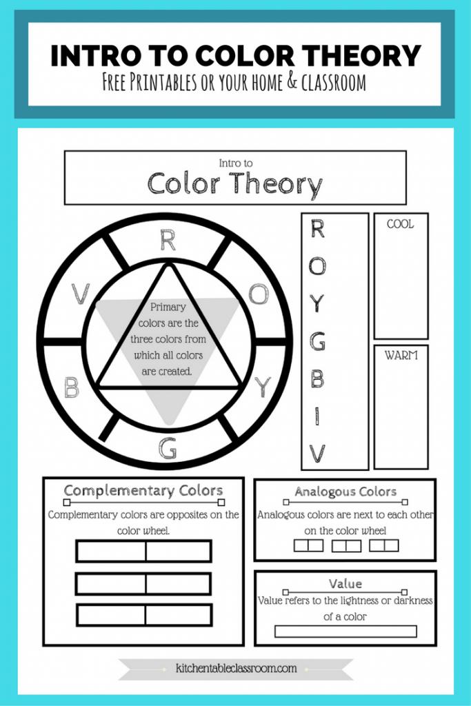 Basic Color Wheel Printable