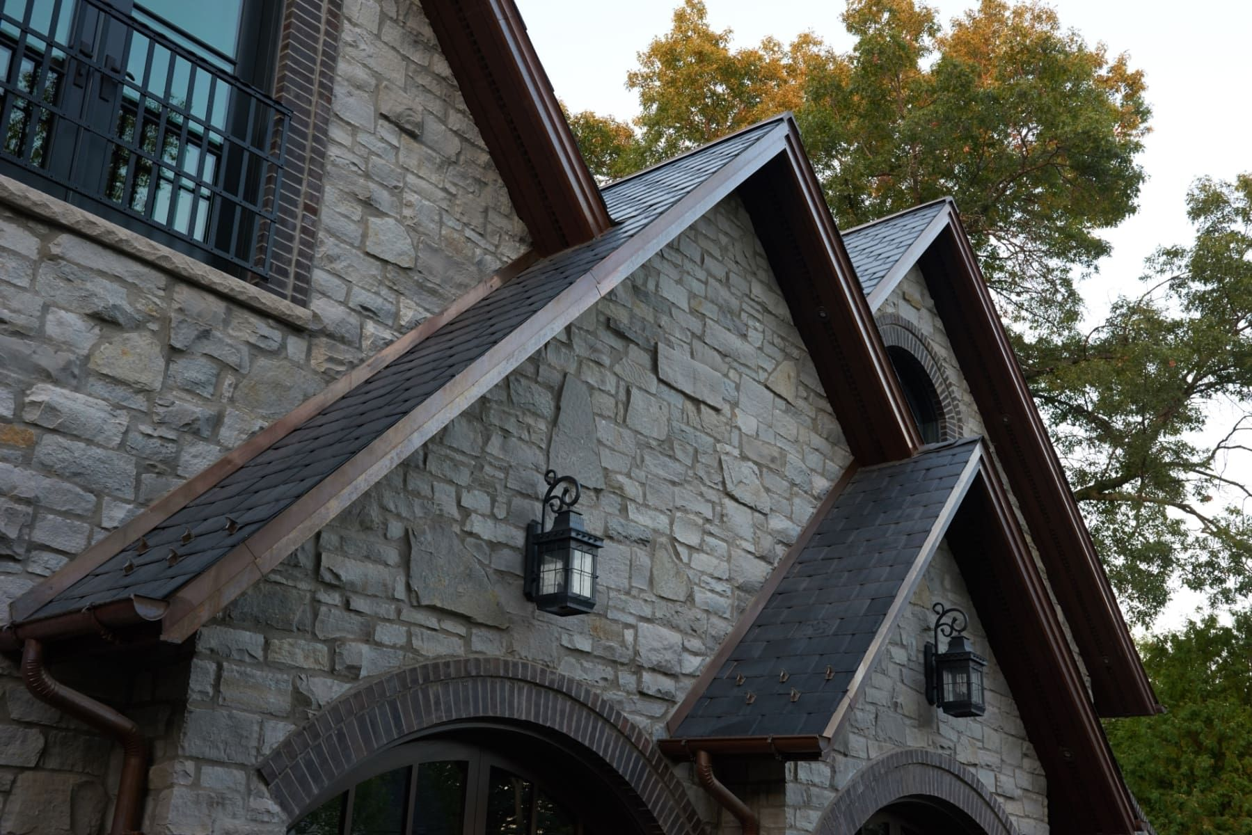 Synthetic Slate Roofing Shingles By Modern Slate House Ideas House Exterior Dream House House Design Hou Synthetic Slate Roofing House Exterior Roofing