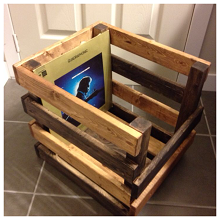 How To Diy A Record Crate Record Crate Record Storage Box Diy Storage