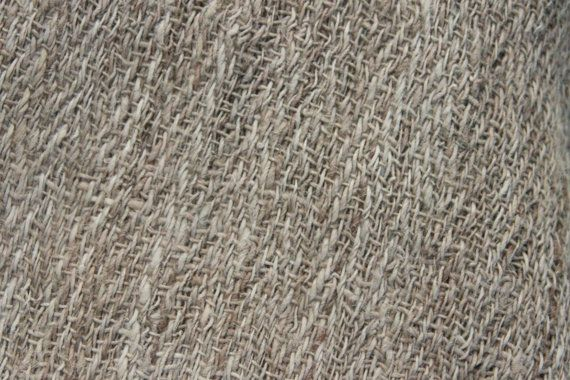 Handwoven pure natural wild nettle and linen(80% linen 20% cotton) fabric. The…