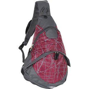 Everest Bags Deluxe Sling Backpack Sling Bag, Burgundy