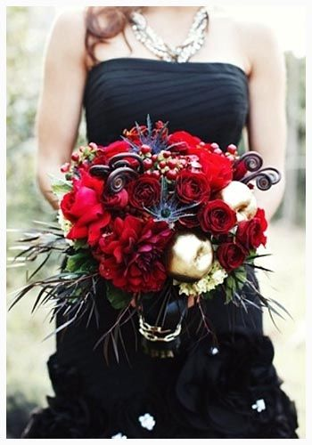 Cool Red And Black Wedding Ideas For A Little Bid Edgy And Love