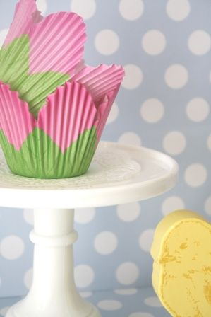 Tulip Cupcake Wrappers Pretty Cupcakes Cupcake Wrappers Cake Liner