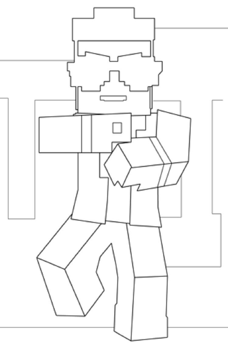 Minecraft Gangnam Style Coloring Pages In 2020 Minecraft Coloring Pages Cool Coloring Pages Printable Coloring Pages