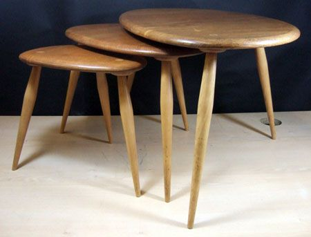 Ebay watch ercol midcentury nest of tables beautiful furniture ercol nest of tables in elm with beech legs watchthetrailerfo