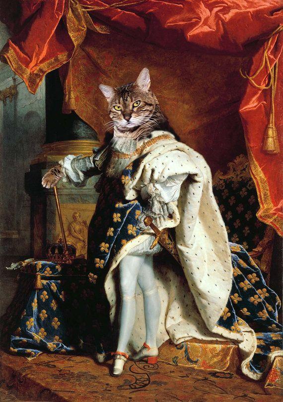 King Louis XIV - Custom Pet Portraits - Dog Portraits and Cat