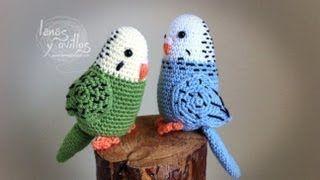 Lanas Y Ovillos Youtube Periquito Projetos De Crochê Ave De Crochê