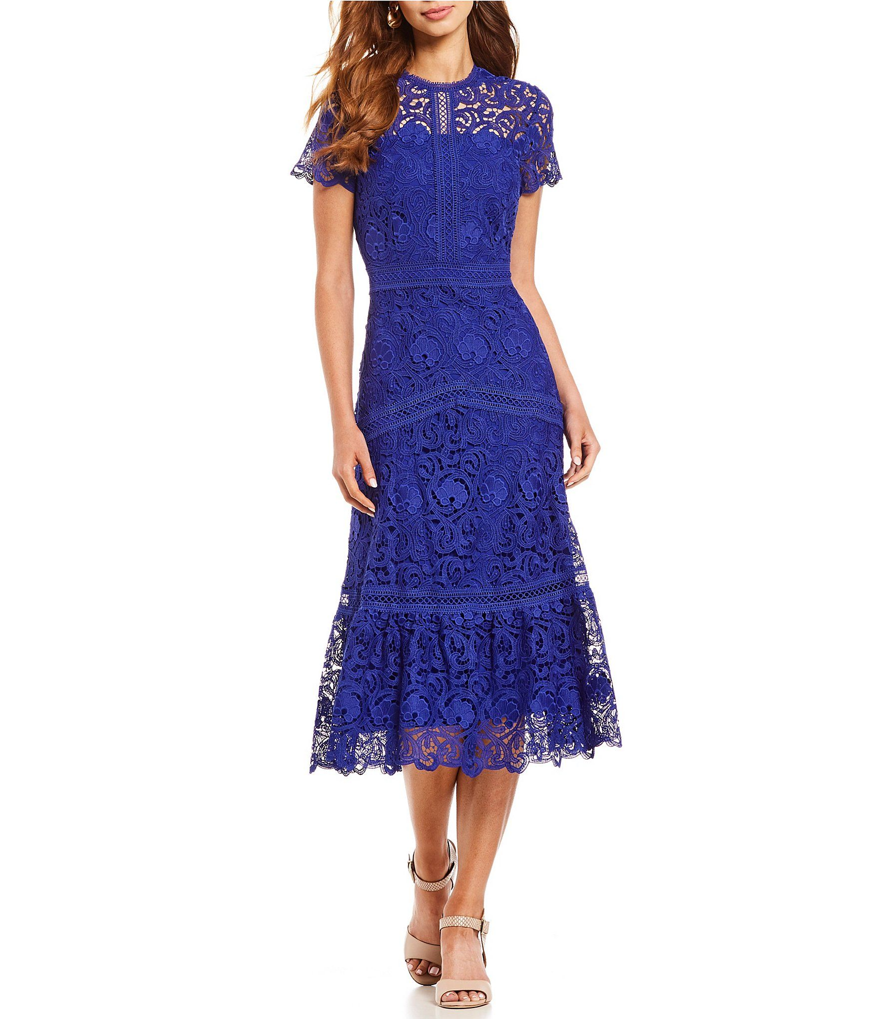 80aad1e7b Shop for Antonio Melani Park Lace Short Sleeve Midi Dress at Dillards.com.  Visit Dillards.com to find clothing, accessories, shoes, cosmetics & more.