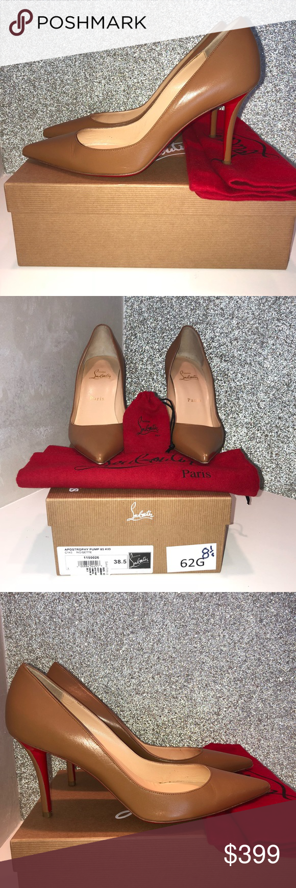 "save off 8009f 0aa51 Christian Louboutin ""Apostrophy"" Pump 85 Kid 38.5 Gorgeous ..."