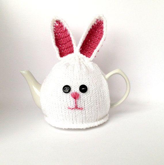 Medium Tea Cosy, White Bunny Rabbit Decor, Bunny Teapot Warmer | Tea ...