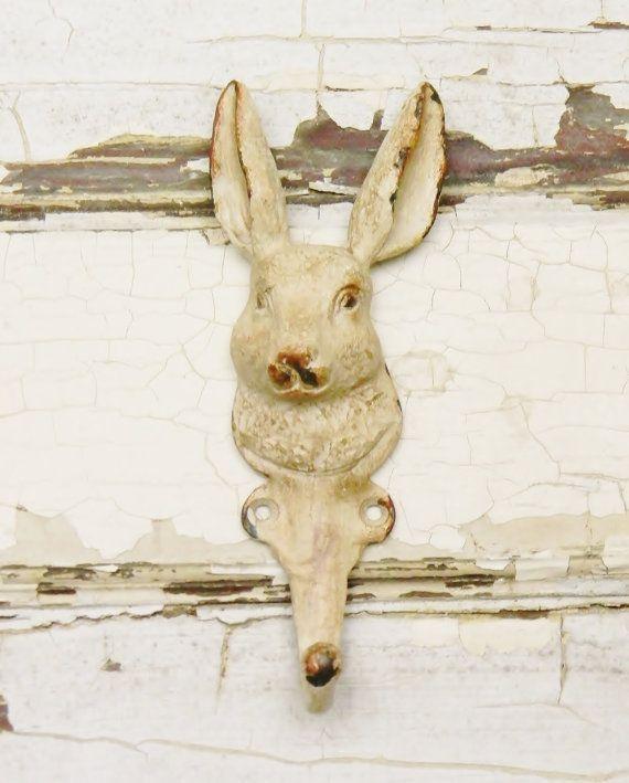 Bunny Wall Hook Animal Hooks Coat Cast Iron