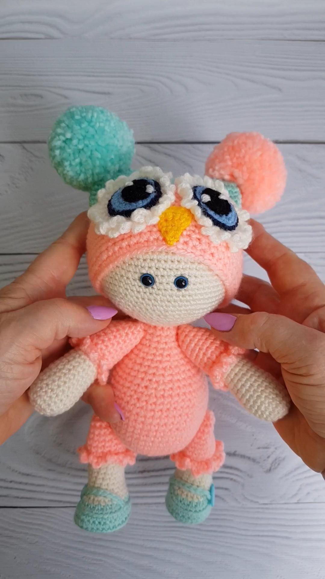 Amigurumi doll videos, knitting patterns free toys baby owls, crochet patterns free toys baby owls
