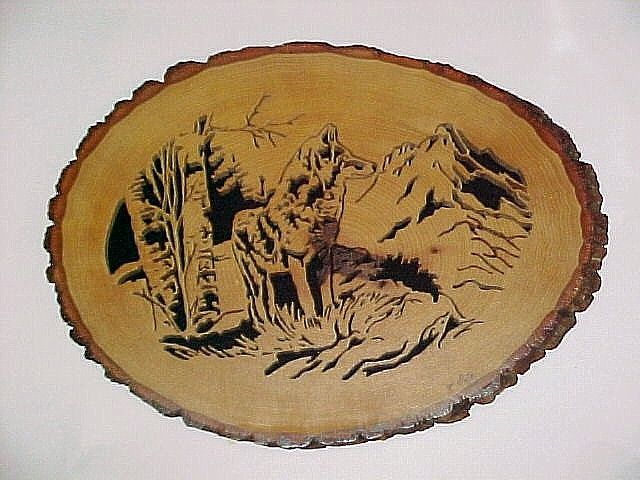 Lone Coyote Scroll Saw Woodworking Crafts Photo Gallery Wood