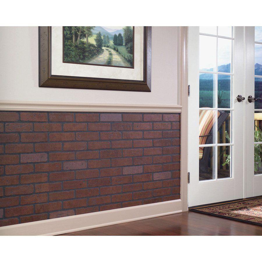 Fashionwall 1 4 In X 4 Ft X 8 Ft Gaslight Ii Brick Hardboard Wallpanel 47 75 In X 7 98 Ft Embossed Har Brick Wall Paneling Red Brick Walls Wall Paneling