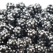 12mm Resin Rhinestone Beads - Hematite