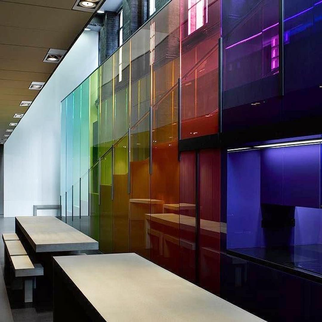 "Adjaye Associates on Instagram: ""#Repost @editphoto ・・・ Rainbow colours inside the @kvadrattextiles London offices designed by @adjaye_visual_sketchbook and Peter Saville.…"""