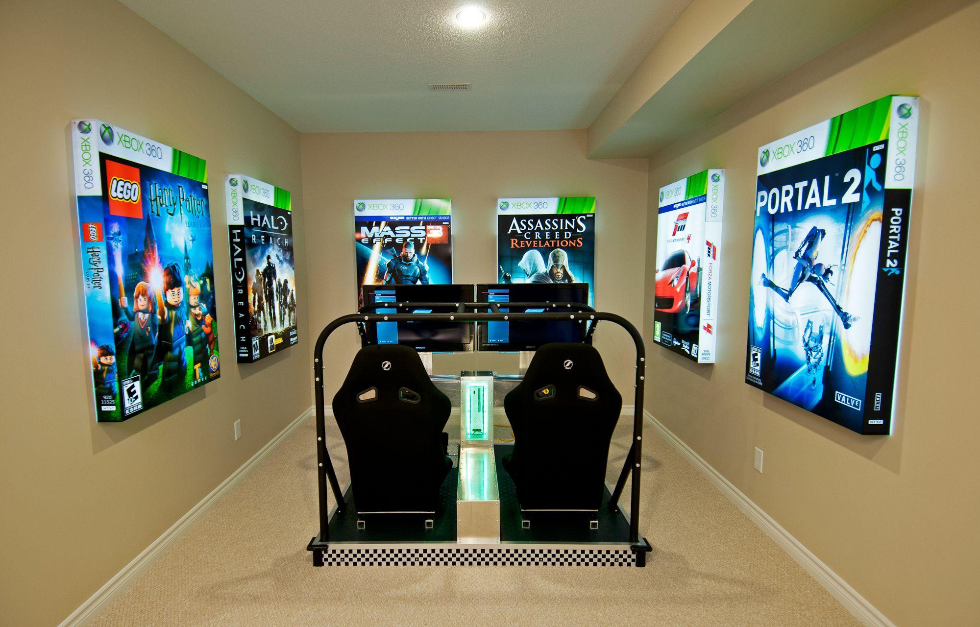 artwork is video game box art. | basement remodel ideas