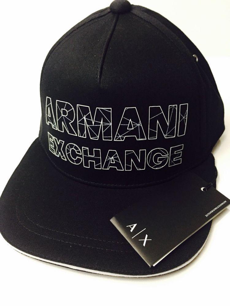 süß billig schön in der Farbe Luxus New Armani Exchange AX Mens REFRACTED LOGO HAT (eBay Link ...