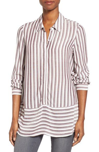Pleione Stripe Tunic Shirt available at #Nordstrom